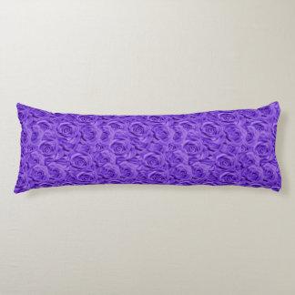 Purple Tiled Roses Body Pillow