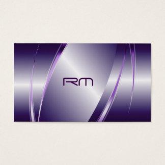Purple Tint Metallic Look-Stainless Steel Pattern Business Card