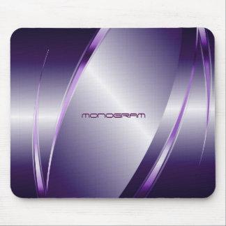 Purple Tint  Metallic Look-Stainless Steel Pattern Mouse Pad