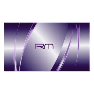 Purple Tint Metallic Look-Stainless Steel Pattern Pack Of Standard Business Cards