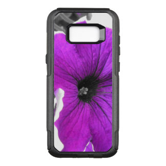 Purple Tinted Black and White Petunias OtterBox Commuter Samsung Galaxy S8+ Case