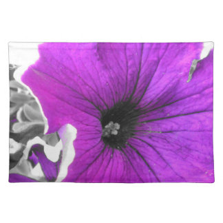 Purple Tinted Black and White Petunias Placemat