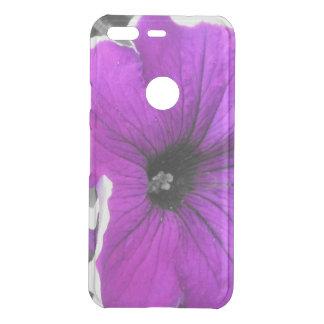 Purple Tinted Black and White Petunias Uncommon Google Pixel Case