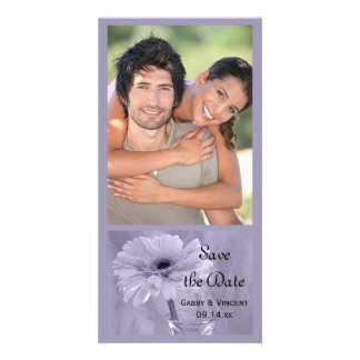 Purple Tinted Daisy Wedding Save the Date Card