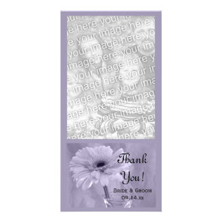 Purple Tinted Daisy Wedding Thank You Card