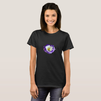 Purple tipped flower t shirt