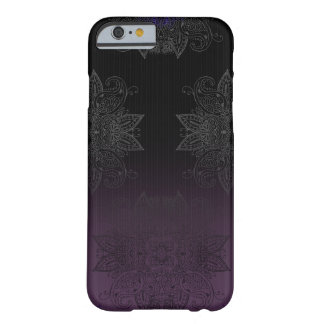 Purple to Black Fade Mehndi Barely There iPhone 6 Case