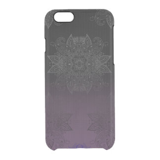 Purple to Black Fade Mehndi Clear iPhone 6/6S Case