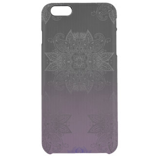 Purple to Black Fade Mehndi Clear iPhone 6 Plus Case