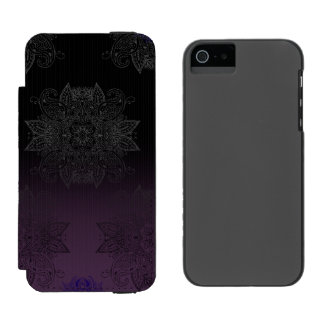 Purple to Black Fade Mehndi Incipio Watson™ iPhone 5 Wallet Case
