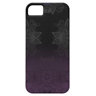 Purple to Black Fade Mehndi iPhone 5 Cover