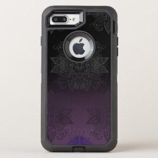 Purple to Black Fade Mehndi OtterBox Defender iPhone 8 Plus/7 Plus Case
