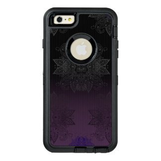Purple to Black Fade Mehndi OtterBox Defender iPhone Case
