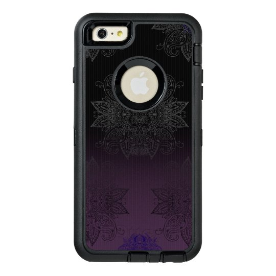 Purple to Black Fade Mehndi OtterBox iPhone 6/6s Plus Case
