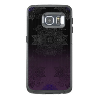 Purple to Black Fade Mehndi OtterBox Samsung Galaxy S6 Edge Case
