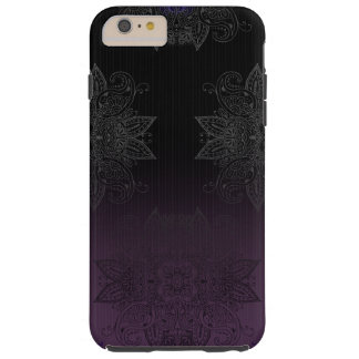 Purple to Black Fade Mehndi Tough iPhone 6 Plus Case