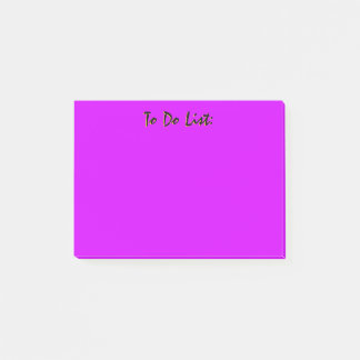 Purple To Do List Post-it Notes