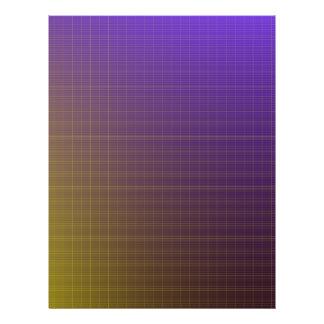 Purple to Gold Pattern Background Flyer Design