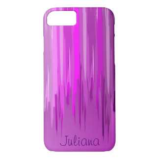 Purple to Pink Paint Drip | Personalized iPhone 8/7 Case