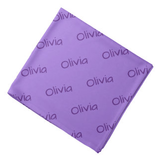 Purple Tones Name Bandana