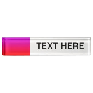 purple top red bottom gradient blank DIY custom Name Plates