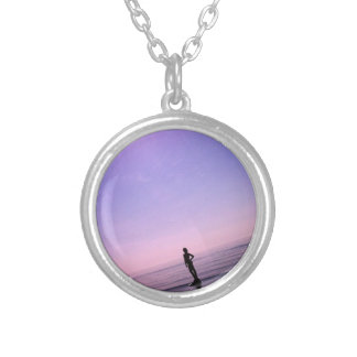 purple tranquility silver plated necklace