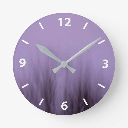 purple tree clock