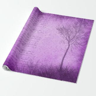 Purple Tree Mystical Gift Wrap