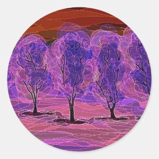 Purple Trees Sticker