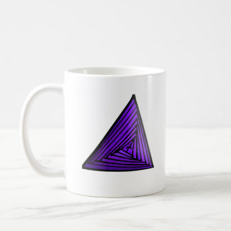 Purple Triangle Coffee Mug