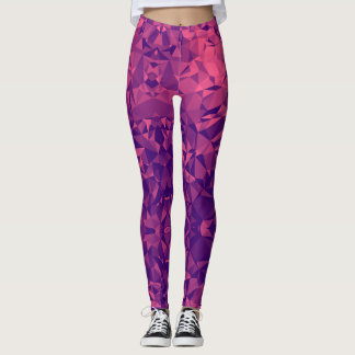 Purple Triangle Legging