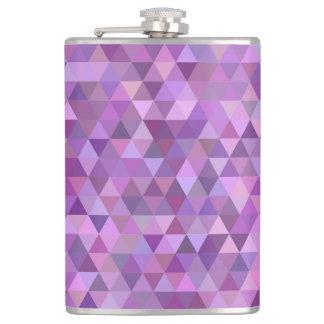 Purple triangles flask