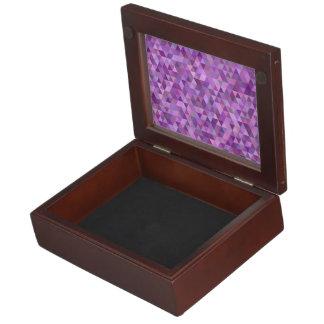 Purple triangles keepsake box