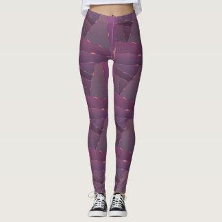 Purple Triangles Leggings