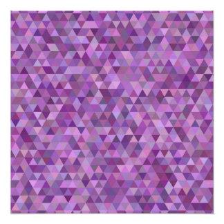 Purple triangles perfect poster
