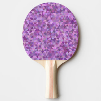 Purple triangles ping pong paddle