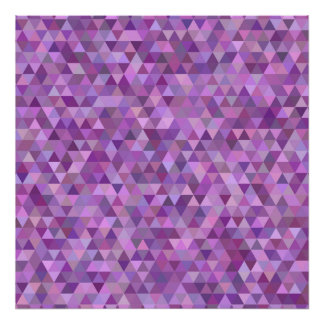 Purple triangles poster