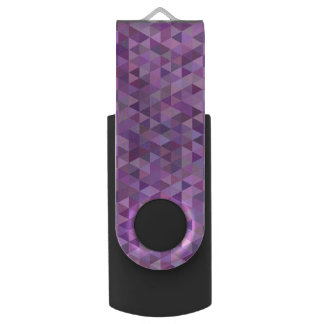 Purple triangles USB flash drive
