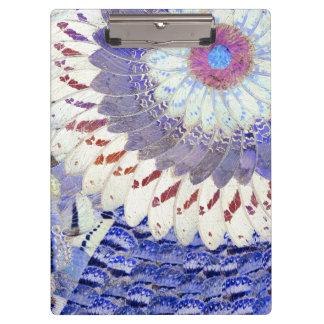 Purple Tribal Butterfly Wings Art Deco Pattern Clipboard