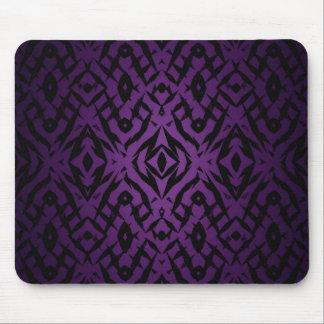 Purple tribal shapes pattern mouse pad