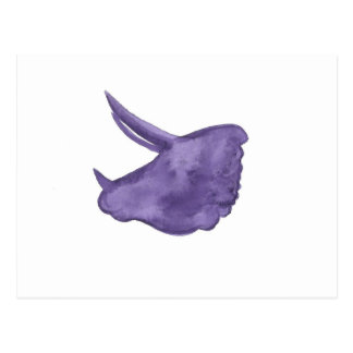 Purple Triceratops Silhouette Postcard