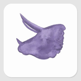 Purple Triceratops Silhouette Square Sticker