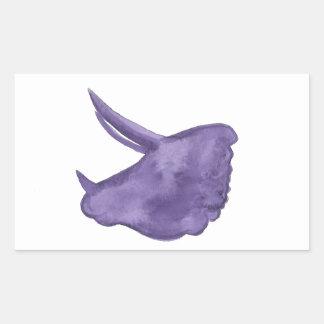 Purple Triceratops Silhouette Sticker