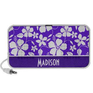 Purple Tropical Flower Mini Speaker