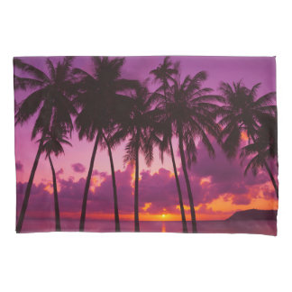 Purple Tropical Sunset 1 (2 sides) Pillowcase