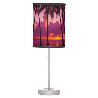 Purple Tropical Sunset 1 Table Lamp