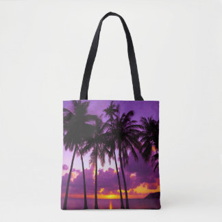 Purple Tropical Sunset 2 All-Over-Print Tote Bag