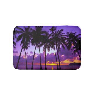 Purple Tropical Sunset 3 Bath Mats