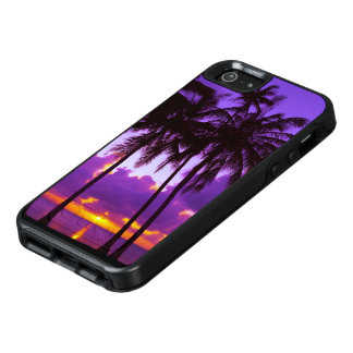 Purple Tropical Sunset 3 OtterBox iPhone SE Case