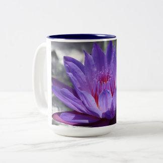 Purple Tropical waterlily 15 oz mug #1 2017